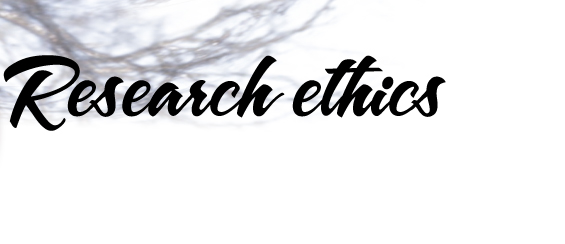 ethical issues research methods